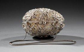 Judith Leiber Crystal Bead Embellished Minaudiere