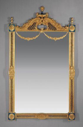 Neoclassical-style Gilt Bronze And Enamel Mirrors