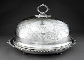 Vintage Silverplate Meat Dish And Cover