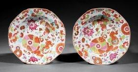 Chinese Export Porcelain Octagonal Bowls