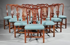 Twelve George Iii-style Mahogany Dining Chairs