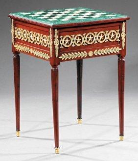 Gilt Bronze-mounted Mahogany Games Table