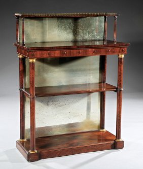 Regency Gilt Bronze-mounted Rosewood Chiffonier