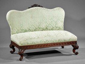 Rococo Carved Mahogany Slipper Settee