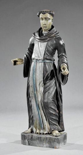 Carved And Polychromed Santos Figure