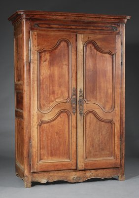 Provincial Louis Xv Fruitwood Armoire