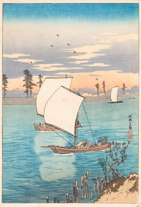 Collection Of Four Japanese Woodblock Prints