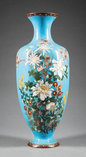 Japanese Cloisonn Enamel Baluster Vase