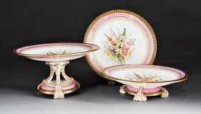 Royal Worcester Porcelain Partial Dessert Service