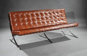 Barcelona-style Leather Sofa, By Rove