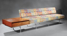 Florence Knoll Sofa With Table & A Bertoia Chair