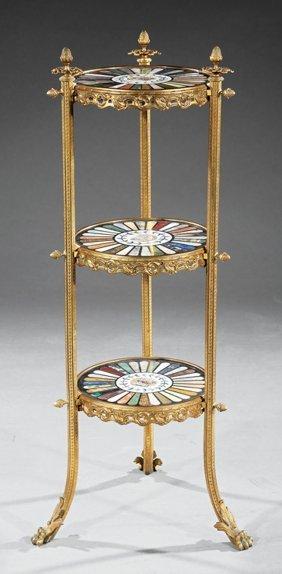 Louis Xvi-style Gilt Bronze Etagere