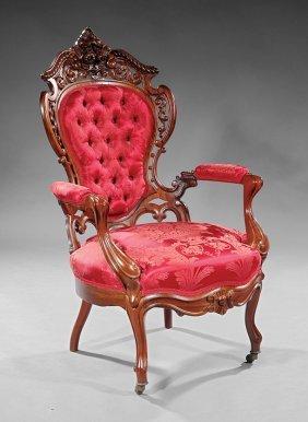 Rosewood Armchair, Attr. J. And J.w.meeks