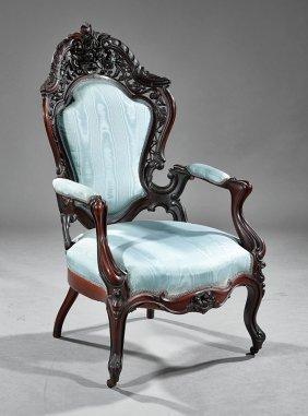 Rosewood Parlor Chairs, Attr. Meeks