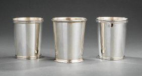 Three American Sterling Silver Julep Cups