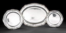 Old Sheffield Plate Shaped Oval Meat Platter