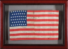 American Forty-six Star Flag, Signed