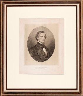 Lithograph Of Jefferson Davis