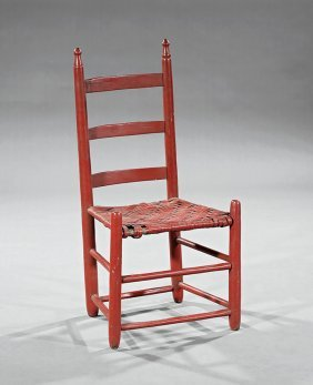 American Painted Ladder-back Side Chair