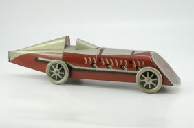 """GONDOLA"" RACE CAR BISCUIT TIN"