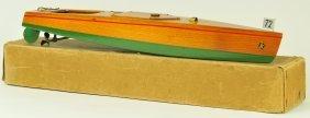 KELLNER CLOCKWORK BOXED WOODEN SPEED BOAT