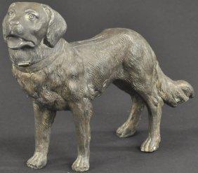 Spelter Dog Still Bank