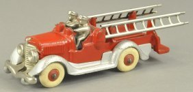 Hubley Nickel Plated Ladder Truck
