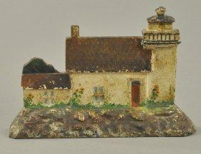 House W/lighthouse Doorstop