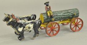Oxen Drawn Log Wagon