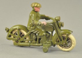 Hubley Harley Davidson Cycle W/civilian Driver