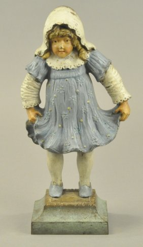 B&h Girl Holding Dress Doorstop
