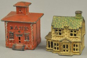 Small Colonial House & Cupola Still Banks