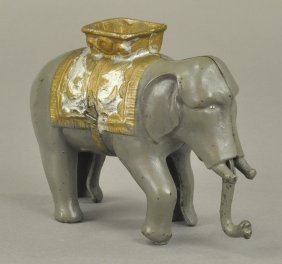 Elephant With Howdah Still Bank
