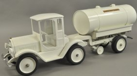 Sturditoy Dairy Truck W/tanker Trailer
