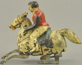 Mechanical Man On Horse Toy