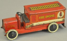 Fire Engine Biscuit Tin