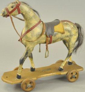 Dapple Grey Platform Horse