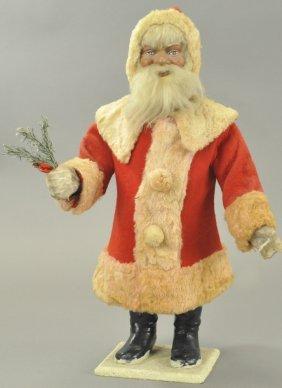 Large Clockwork Nodding Santa Claus