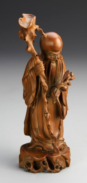 Chinese carved boxwood shoulao lot