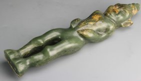 Chinese Qijia Culture Jade Figure