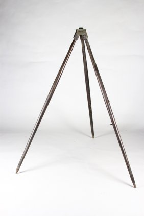 Wood And Brass Vintage Tripod