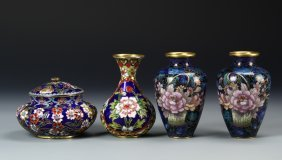 Four Chinese Cloisonne Pieces