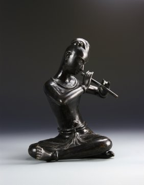 Asian Bronze Musician Figure