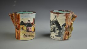 Pair Of Libation Mugs