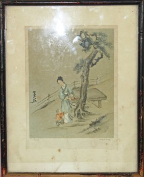 Chinese Painting Of A Lady
