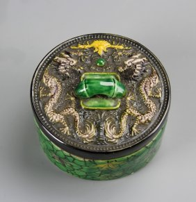 Chinese Green Glazed Box