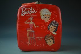 1963 Barbie Carrying Case Filled With Outfits