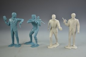 "Four ""marx"" Action Figures"