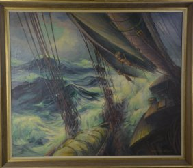 Painting Of A Nautical Scene