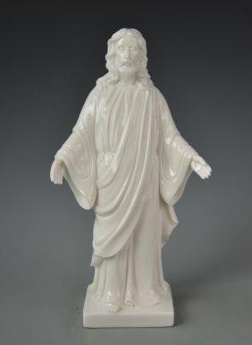 Chinese Blanc De Chine Jesus Christ Figure